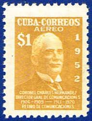 Cuba C72 Stamp - Colonel Sandrino Stamp - C CU C72-2 MNH