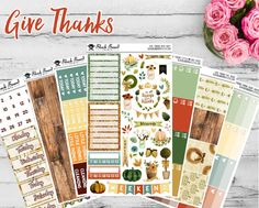 Say hello to our Give Thanks Planner Sticker Collection! ♥  Save and buy the…