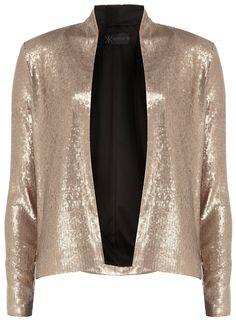 Kardashian gold sequin jacket  #DorothyPerkins