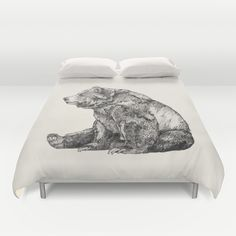 Bear // Graphite Duvet Cover