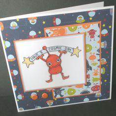 Cosmic Day Birthday Card by juju cards