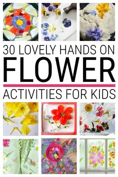 Lovely flower crafts for kids that make wonderful hands on nature activities for children in the garden and backyard all summer long. This cool collection includes flower playdough, painting, collages, sun catchers, gloop and more. #flowercrafts #floweractivities #flowercraftsforkids #floweractivitiesforkids Flower Activities For Kids, Rainy Day Activities For Kids, Nature Activities, Easy Crafts For Kids, Summer Crafts, Kid Crafts, Craft Activities, Family Activities, Arts And Crafts