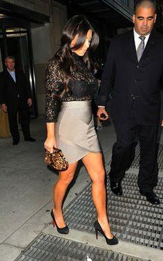 Lace top & bandage skirt