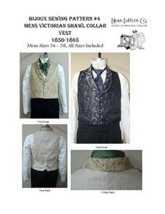 Men's Victorian  Shawl collar Vest