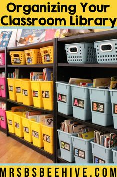 Organize your classroom library with these easy tips. Make your classroom library your favorite area in your classroom, a space your students will love!
