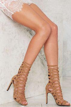 Jeffrey Campbell Mercury Suede Heel - Beige - Shoes | Heels | Feminine Utilitarian | Best Sellers | Jeffrey Campbell