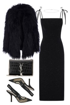"""Untitled #5414"" by theeuropeancloset on Polyvore featuring Christian Dior, Yves Saint Laurent and Suzanne Kalan"