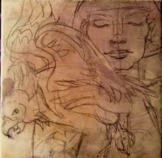 Merry Arttoones Aka Mary Susan Cate...ceramic art tile ..process