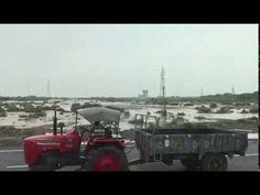 Road Destruction By Heavy Rain