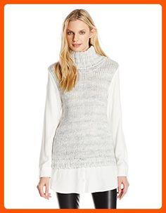 2e6a542f99c07 Kensie Women s Cozy Wool Blend Sweater - Shop for women s Sweater - Fog  Combo Sweater