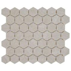 Daltile Nova Falls Gray 10 in. x Ceramic Hexagon Mosaic Floor and Wall Tile sq. / - The Home Depot Hexagon Mosaic Tile, Ceramic Mosaic Tile, Mosaic Wall Tiles, Pebble Mosaic, Glazed Ceramic, Bath Tiles, Shower Tiles, Mosaic Art, Mosaic Pieces