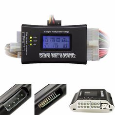 PC Computer Top Quality LCD display screen 20/24 Pin ATX BTX ITX HDD CDROM SATA Digital Power Supply diagnostic Tester