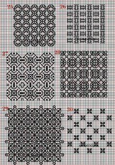 Embroidery and embroider:blackwork,plain fillings Blackwork Cross Stitch, Blackwork Embroidery, Embroidery Sampler, Cross Stitching, Cross Stitch Embroidery, Cross Stitch Patterns, Blackwork Patterns, Doodle Patterns, Black Work