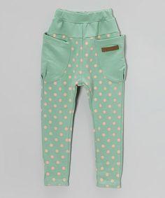 Love this Light Blue & Pink Polka Dot Harem Pants - Infant, Toddler & Girls on #zulily! #zulilyfinds