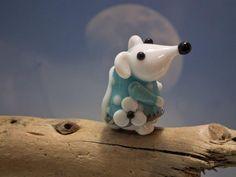 Mademoiselle Claudette lampwork mice bead sra by DeniseAnnette, $16.00