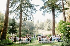 Wooded wedding at Bridal Veil Lakes