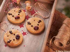 Craquez pour ces sablés chocolatés à la bouille de renne de noël !