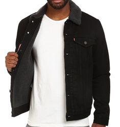 NEW LEVI'S MEN'S PREMIUM BUTTON UP DENIM SHERPA JEANS TRUCKER JACKET 705980032   Clothing, Shoes & Accessories, Men's Clothing, Coats & Jackets   eBay!
