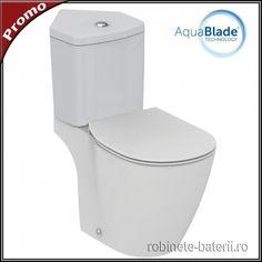 Vas wc Connect Aquablade complet cu amplasare pe colt Toilet, Connection, Vase, Flush Toilet, Litter Box, Flower Vases, Toilets, Vases, Flowers Vase