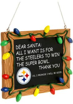 Pittsburgh Steelers Chalkboard Sign Ornament