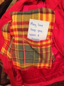Putting notes in the pockets of your donated coats is a great way to spread kindess! Coat Drive, Warm Coat, Notes, Pockets, Report Cards, Notebook