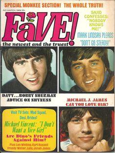 Vintage March 1969 Fave Magazine Davy Jones Bobby Sherman Michael James Raiders