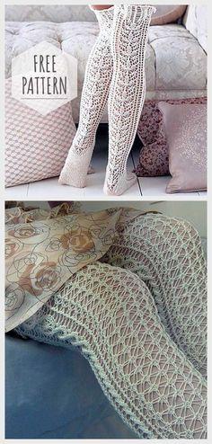 Crochet Fishnet Knee Socks Pattern Crochet Fishnet Knee Socks Pattern Learn the fact (generic term) Crochet Slipper Pattern, Crochet Shoes, Crochet Slippers, Crochet Yarn, Crochet Clothes, Free Crochet, Crochet Blouse, Knitting Socks, Loom Knitting