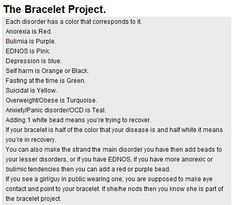 The bracelet project. Spread the word.