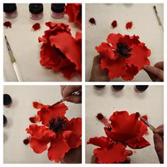 Gorgeous poppy tutorial by Lisa Bujega of Flour Confections
