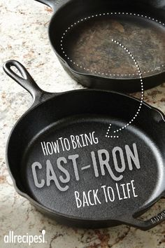Cast Iron pans are easy to clean, season, and care for. We'll share easy tips and how-tos. Cast Iron Skillet Cooking, Cast Iron Frying Pan, Iron Skillet Recipes, Cast Iron Pot, Cast Iron Dutch Oven, Cast Iron Recipes, Cast Iron Cookware, It Cast, Frying Pans