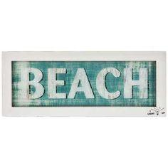 Blue Beach Wood Lighted Sign