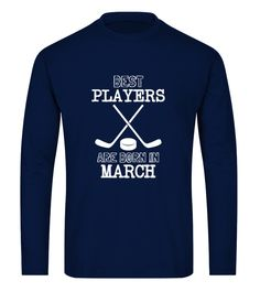 Best Hockey Players Born In March (Long sleeved T-shirt Unisex - Navy) #videos #swimming #workouts hockey memes, hockey sur glace, hockey art, dried orange slices, yule decorations, scandinavian christmas Hockey Memes, Hockey Shirts, March Born, November, Street Hockey, Air Hockey, Field Hockey, Best Player, Hockey Players