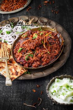 "Bhuna Gosht means goat meat/lamb slow pan cooked with spices by simmering it for long hours and reducing the gravy till it reach deep red/brown thick luscious gravy. Meat is cooked in its own juices and  blended thoroughly with the spices, gives out and an elegant, aromatic dish.  Relish this velvety, rich ""Bhuna Gosht"" with … … Continue reading →"