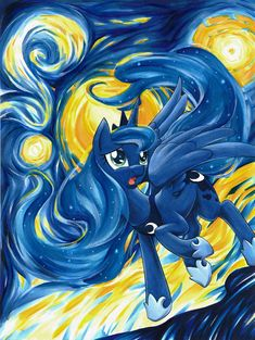 princess luna (the starry night and vincent van gogh) drawn by ...