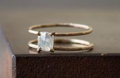Natürliche Rose-Cut Diamantring Käfig