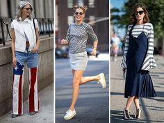 ファッションは中央の女性?アスリートストイルはひとつの流行。髪の毛は後ろでまとめても、ストレートセミ―ロングでもいいと思います。
