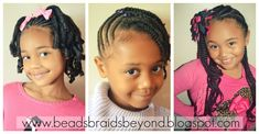 For more little girls natural hair styles check out Beads, Braids & Beyond blog at www.beadsbraidsbeyond.blogspot.com