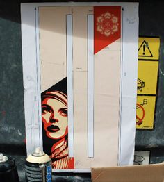 Shepard fairey, OBEY GIANT, 14 story mural in Paris