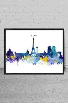 Paris Skyline Paris France Cityscape Art Print by MyVisualArt