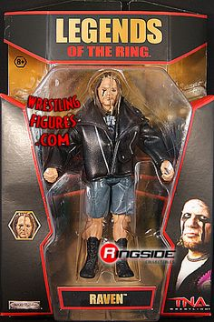Raven (Legends of the Ring) - TNA Deluxe Impact 5 Global Force Wrestling, Wrestling Wwe, Easy Face Painting Designs, Wwf Superstars, Eddie Guerrero, Wwe Toys, Wwe Action Figures, Really Funny, Raven