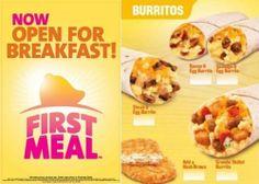 Taco Bell: Breakfast Burritos
