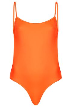 Fluro Orange Backless Swimsuit by ASHISH X Topshop