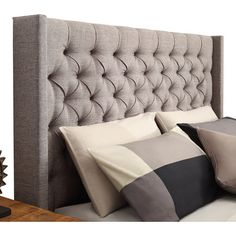 Whether it's in a first apartment or an updated guest suite, this wingback headboard offers the perfect finishing touch for any bedroom. Pair it with crisp s...