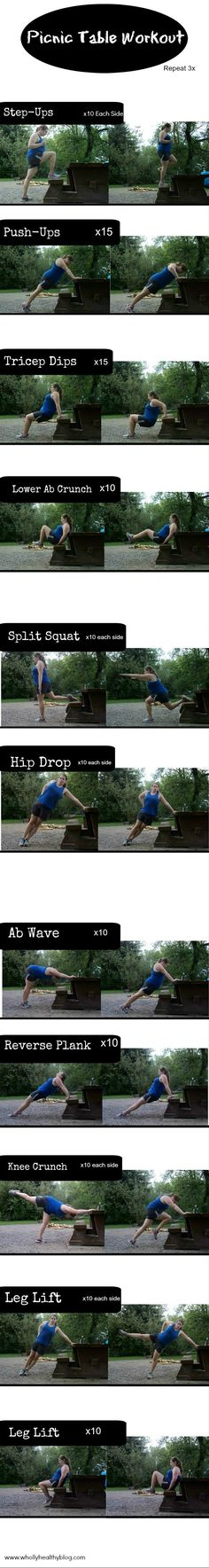 Picnic Table Workout