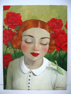 """""""In the Wayward Garden"""" Amy Abshier-Reyes, oil on canvas, 2010."""
