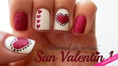 Nails art elegante para San Valentín
