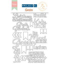 Scrapbookdepot - Marianne Design Project NL Chipboard - Gezin