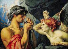 Oedipe et le Sphinx ~ by François-Émile Ehrmann