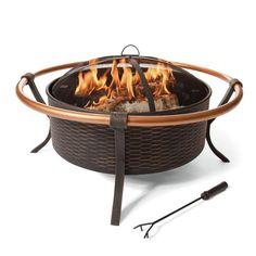 $170 - Copper Rail   8220 Woven Wicker  34  Fire Pit