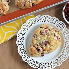Cranberry-Orange Scones--use up any cranberries you might have leftover in the freezer!
